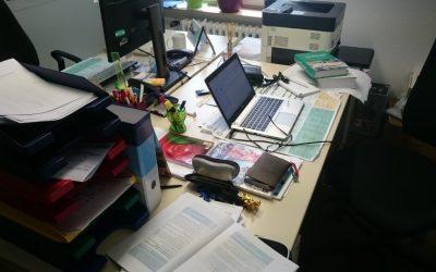 Schreibtisch auf Station
