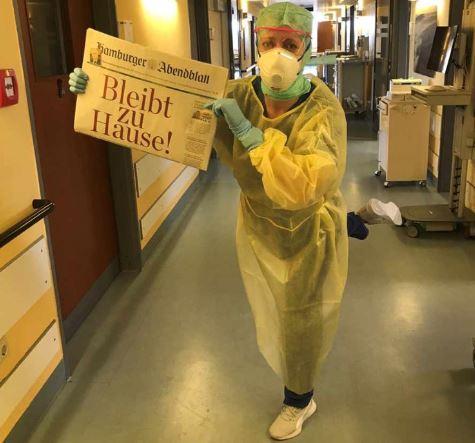 Vorbereitungen in den Kliniken - Bleibt zu Hause!