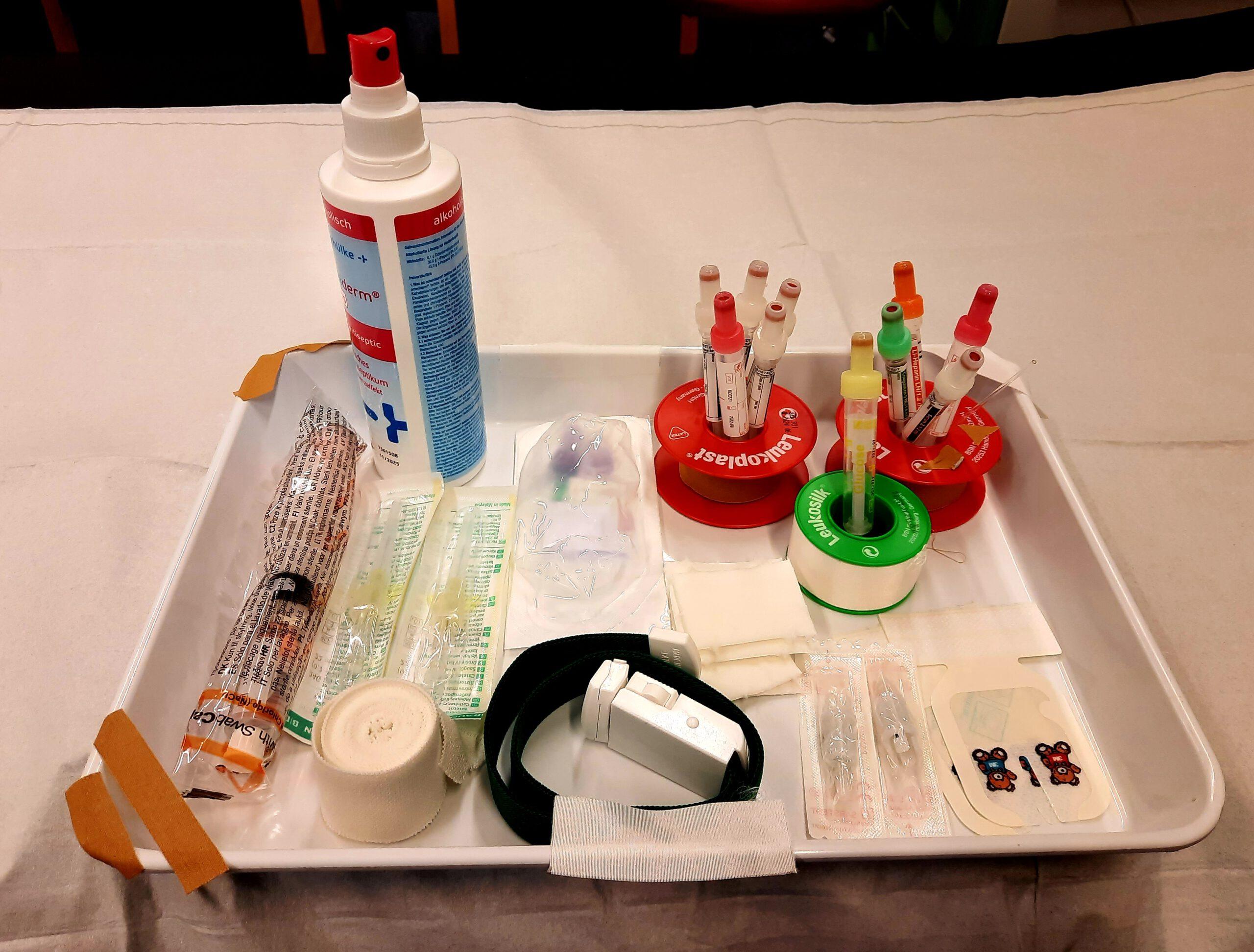 Diabetes: erste Blutentnahme